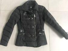 ZARA warme schicke Daunen Daune Winterjacke Jacke schwarz Gr. S 34/36 TOP