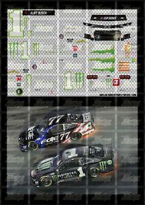 NASCAR 1/64 DECALS KUB17 - KURT BUSCH 2020 CUP #1 MONSTER ENERGY (ALL STAR RACE)