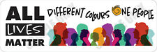 All Lives Matter Different Colours One People Bumper Stickers