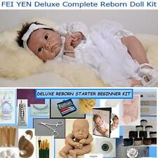 Reborn Doll KIT FEI YEN Complete Beginner Starter DELUXE  Lot DVD PAINTS, MOHAIR