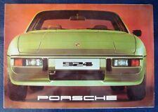 PORSCHE 924 CAR SALES BROCHURE CIRCA 1977.