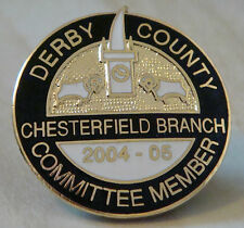 DERBY COUNTY Official COMMITTEE MEMBER badge CHESTERFIELD BRANCH 12 OF ONLY 30