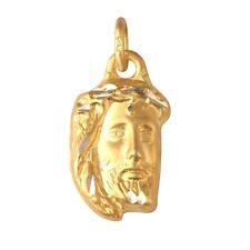 14k GOLD HOLY MEDAL MEDALLION * JESUS JEZUS CHRIST * YELLOW GOLD 585 PENDANT *