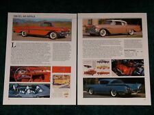 1958 CHEVY BEL AIR IMPALA SPEC SHEET 58 283 348 TURBO-T CONVERTIBLE BELAIR COUPE