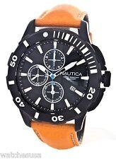 Nautica Men's N23536G Bfd Black Dial Orange  Band Chrono Watch