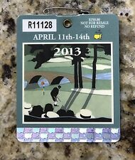 2013 MASTERS AUGUSTA NATIONAL GOLF CLUB BADGE TICKET ADAM SCOTT WINS RARE