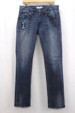 mens distressed JIMMY TAVERNITI jeans slim straight stretch denim 32 x 35