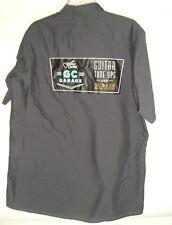 Guitar Center Tune Up Button Front Work Shirt Gray Black Red Kap Sz L Music