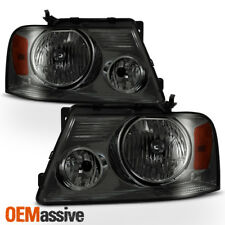 Fit 04-08 Ford F150 F-150 06 Lincoln Mark LT Smoked Headlights Replacement