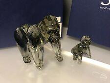 Swarovski Figur Jahresfiguren 2009 Gorillas mit Karton. Top Zustand