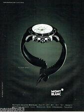 PUBLICITE ADVERTISING 056  2001  la montre Mont Blanc