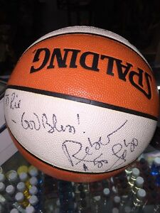 Rebecca Lobo Basketball Legend Autographed Signed Basketball No COA