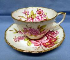 ROSLYN FINE BONE CHINA FOOTED CUP&SAUCER#8567 SUNNINGDALE ENGLAND SIGNATURE VNT