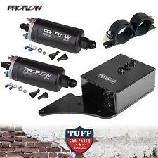FG Ford Falcon XR6 Turbo 2 x Proflow 380LPH E85 Fuel Pump & Black Surge Tank