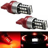7443 Red LED Strobe Flash Blinking Brake Tail Light/Parking Bulbs