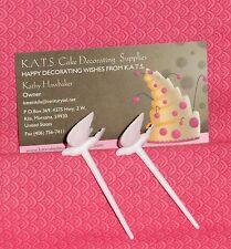 "Doves,White,1"". Cupcake or Cake Picks,DecoPac,Plastic,12ct Decoration,Wedding"