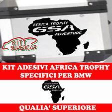 2 Adesivi Stickers Africa Trophy Moto BMW R 1200 1150 1100 gs valigie adventure