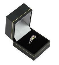 10 Black Leatherette Ring Boxes Jewellery Shop Ring Gift Box Wholesale Suppliers