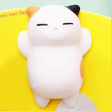 Cute Expression Cat Ball Squishy Soft Bread Cell phone Straps Bun Key Chains Hot