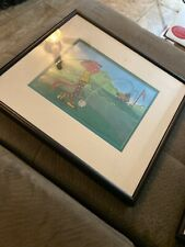 """Pink Panther Golf """"Pink Links"""" Serigraph 1992 Limited Edition Sericel w/ Coa"""