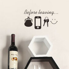 Before Leaving Quote Removable Vinyl Decal Art Mural DIY Home Decor Wall Sticker