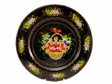 AMAZING RUSSIAN WOODEN LACQUER PLATE, HAND PAINTED, ARTIST SIGNED!!!