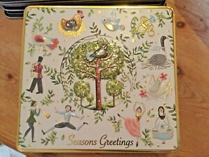 Beautiful 12 Days of Christmas Biscuit Tin (empty!) Perfect condition