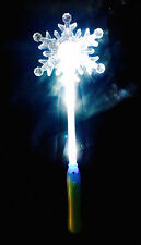 All White Light Up Flashing Snowflake Wand - FUN for Winter and Christmas!