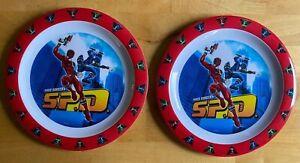 2 x Power Ranger Plastic Plates - Disney - Vintage - Unused