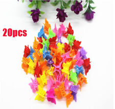20PCS Girls Mini Hair Claws Multi Colors Hair Clips Butterfly Shape Hair Clamps