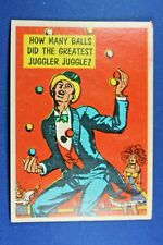 "1957 Topps Isolation Booth #51 ""How Many Balls Did The Greastes Juggler?"" - VG"