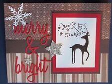 Stampin Up DASHER Santa's swirly antler reindeer Christmas Holiday