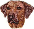 "2""x2 1/2"" Rhodesian Ridgeback Head Portrait Dog Breed Embroidery Patch"