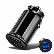 Car Charger Fast Charging Mini Small USB 2 Port For Samsung S20 S10 Note S9 S8