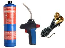 BERNZOMATIC QUICK FIRE TORCH HOTBAG KIT, ROTHENBERGER PROPANE + EXTENSION HOSE