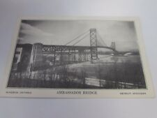 VINTAGE - AMBASSADOR BRIDGE - DETROIT MICHIGAN - POSTCARD