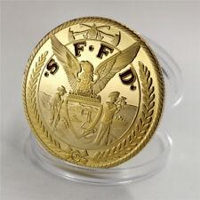 Florida Fire Department commemorates gold coins St. Michael's patron saint