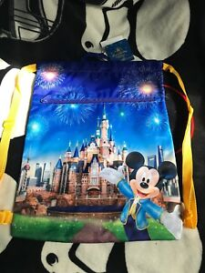 Disney Shanghai Grand Opening Mickey Mouse Drawstring Backpack.