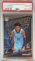 2019-20 Donruss Optic My House! #7 Ja Morant Grizzlies RC Rookie PSA 10
