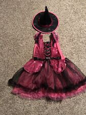 Halloween Costume Girl's Witch Dress Size Size M