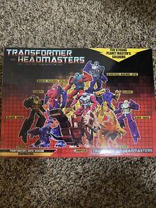 Transformers Headmasters Planet Master's Super Warrior KO Set Of 10 MISB