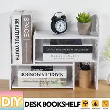 DIY Expandable Desktop Bookshelf Bookcase Organizer Rack Office Storage Shelf