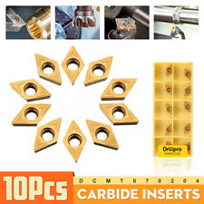 10PCS/Box DCMT070204 YBC251 Carbide Inserts For Lathe Turning Tool Boring AU