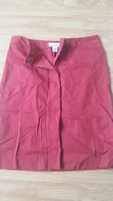 Ladies skirt Armani Exchange size 12 red a line button down skirt