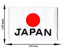 Japan Flag Nation Country Japanese Sport Football Logo Applique Iron on Patch