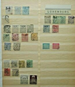 LUXEMBOURG, 8 pages of Stamps, MANY older issues + recent used/mint, off-paper,
