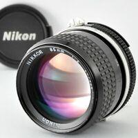 [Exc+] NIKON Ai Nikkor 85mm f/2 Manual Focus Prime Portrait Lens MF from Japan