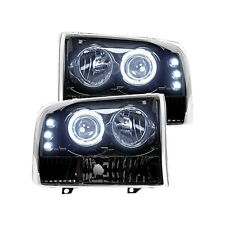 Recon Projector Headlight Set for Ford Superduty 99-04 Smoked/Black (264192BK)