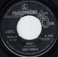 DEEP PURPLE HUSH / ONE MORE RAINY DAY VERY RARE 1968 RECORD INDIA 7' PS 45 rpm