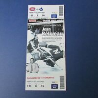 JEAN BELIVEAU  2003 Great moments Ticket  Montreal Canadiens Toronto Maple Leafs